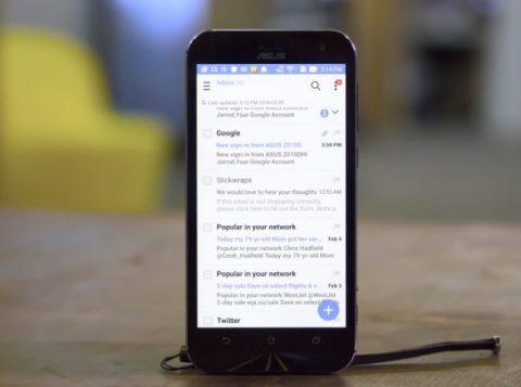 Zenfone paramétrer email