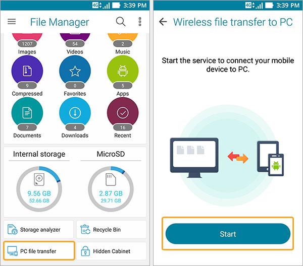 transfert fichiers pc zenfone voir ses fichiers pc depuis smartphone