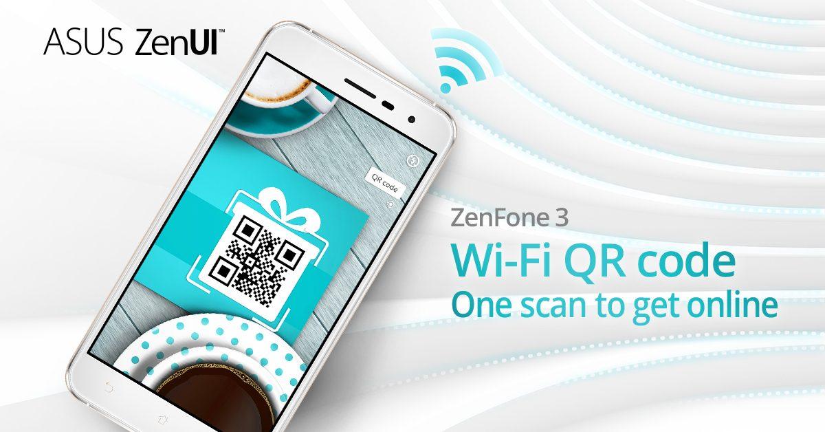 Connecté en un instant avec la fonction QR code du ZenFone 3