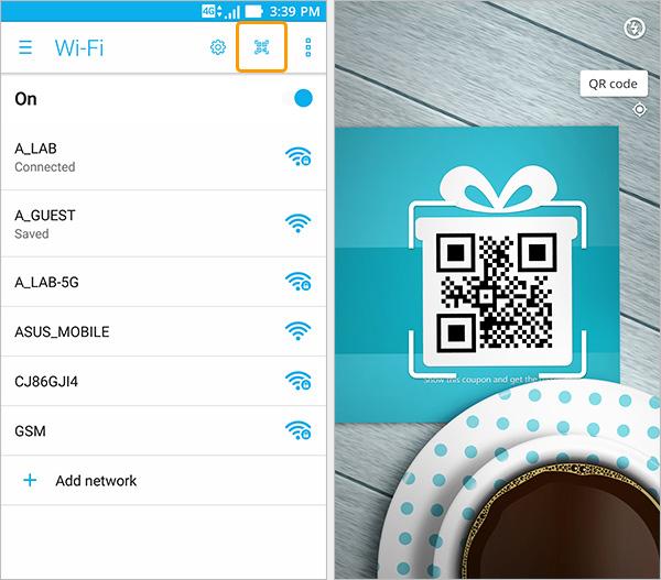 QR code wifi zenfone