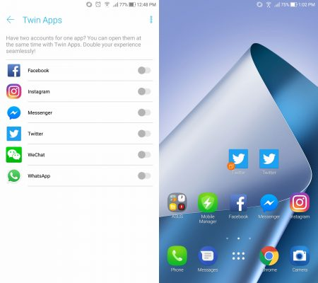 ASUS Twin Apps zenfone