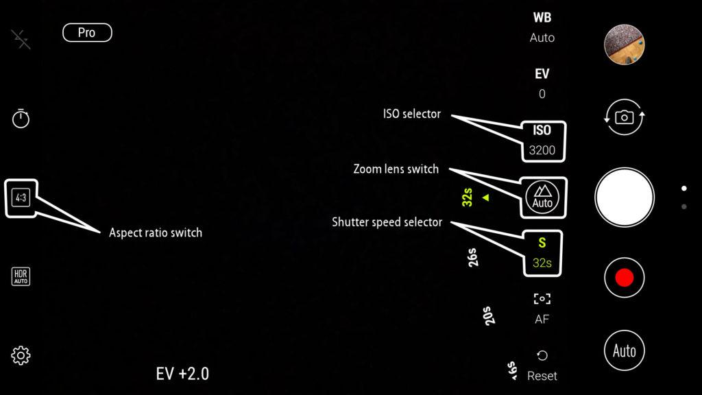 Mode pro photographie ZenFone 4 pro