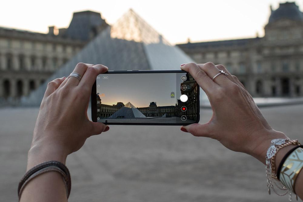 Coucher de soleil Louvre Paris Zenfone 5